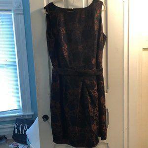 Talbots Women 20W brown and black brocade